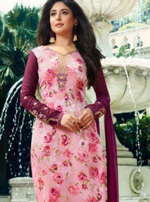 Kritika Kamra Pink Festival Designer Straight Suit