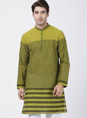 Kurta Pyjama Printed Cotton in Green