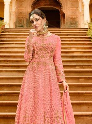Lace Art Silk Floor Length Anarkali Suit