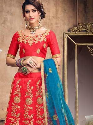 Lace Art Silk Lehenga Choli