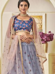 Lace Blue Art Silk Lehenga Choli