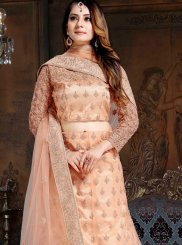 Lace Cream Lehenga Choli
