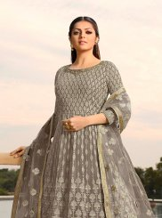 Lace Drashti Dhami Faux Georgette Floor Length Anarkali Suit