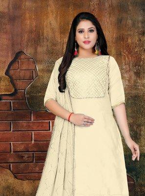 Lace Faux Chiffon Designer Salwar Kameez