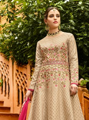 Lace Festival Floor Length Anarkali Suit