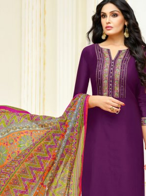 Lace Trendy Churidar Salwar Kameez