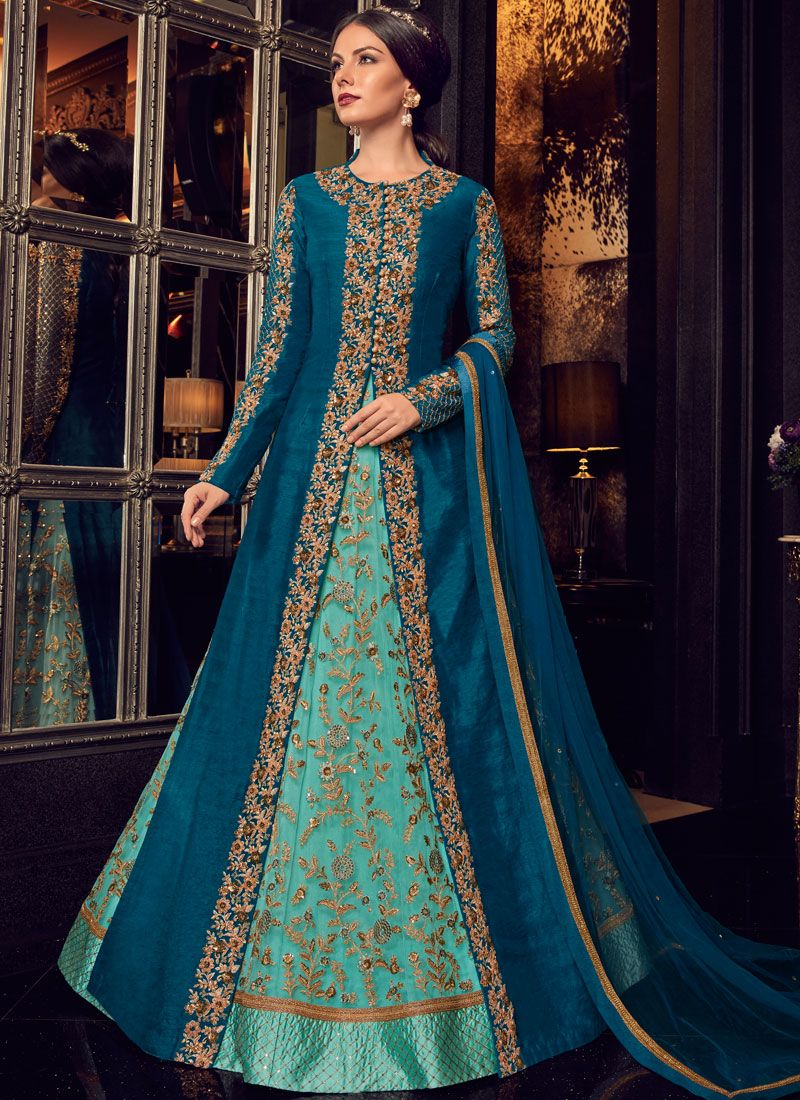 Lace Wedding Floor Length Anarkali Suit