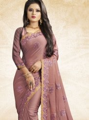 Lavender Art Silk Party Traditional Saree