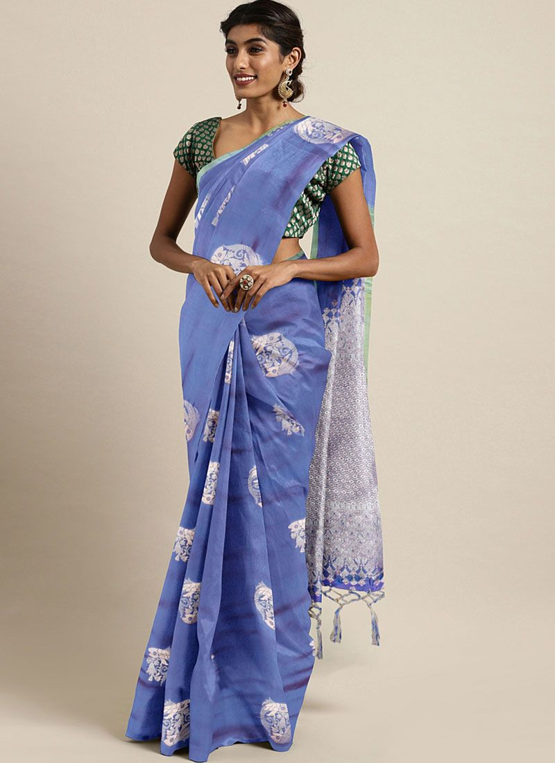 Lavender Art Silk Weaving Classic Saree