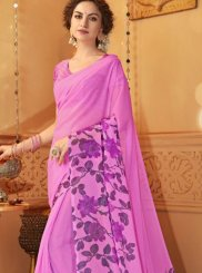 Lavender Border Casual Saree