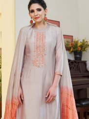 Lavender Ceremonial Cotton Silk Designer Palazzo Suit