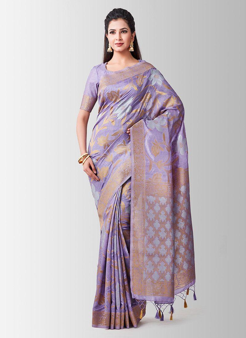 Lavender Sangeet Designer Traditional Saree