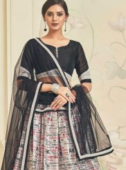 Lehenga Choli Lace Net in Black