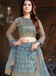 Lehenga Choli Lace Net in Blue
