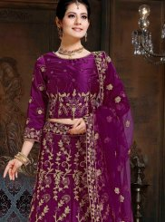 Lehenga Choli Lace Satin in Purple