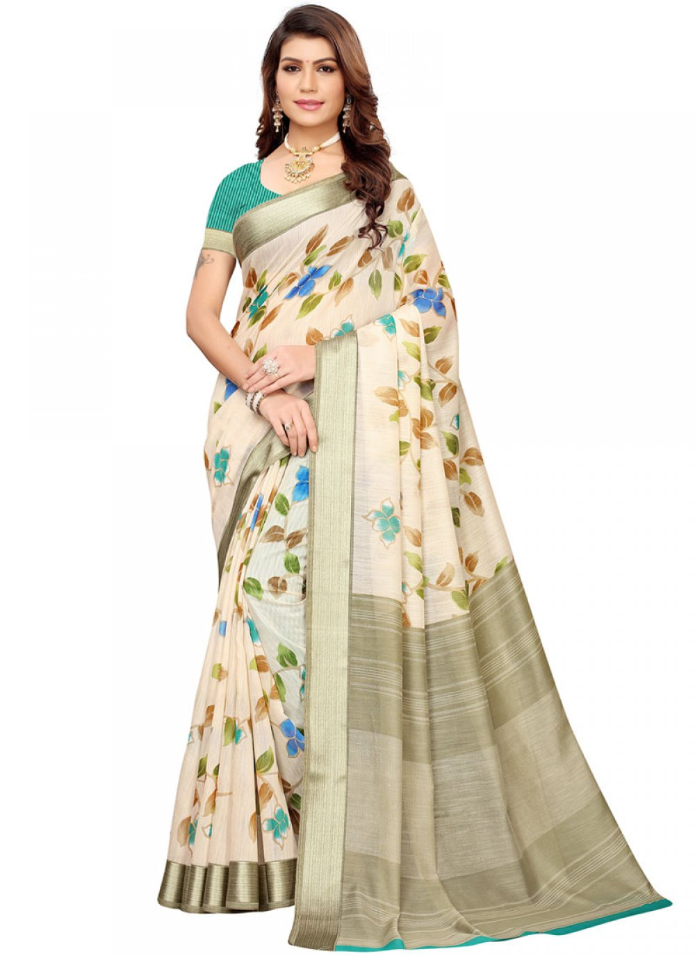 Linen Casual Printed Saree
