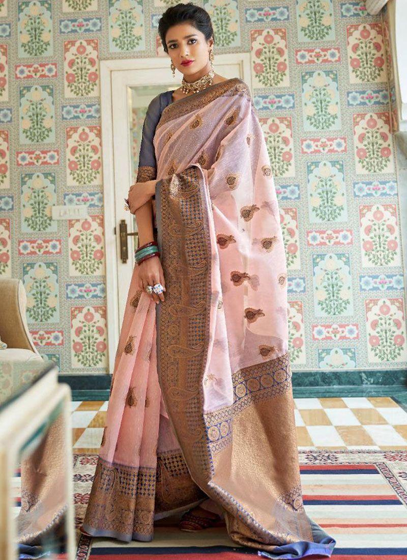 Linen Ceremonial Designer Traditional Saree