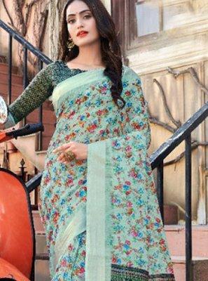 Linen Classic Designer Saree