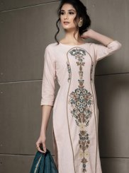 Linen Embroidered Pant Style Suit