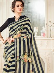 Linen Multi Colour Casual Saree