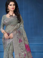 Linen Party Printed Saree