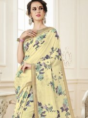 Linen Print Casual Saree