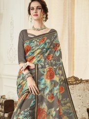 Linen Trendy Saree in Multi Colour