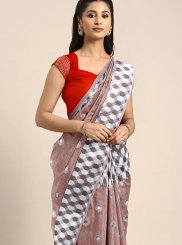 Linen Weaving Multi Colour Traditional Designer Saree