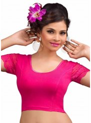 Lycra Designer Blouse in Pink and Red