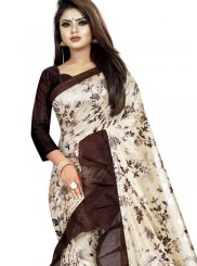 Lycra Printed Saree in Multi Colour