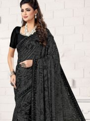 Lycra Trendy Saree in Black