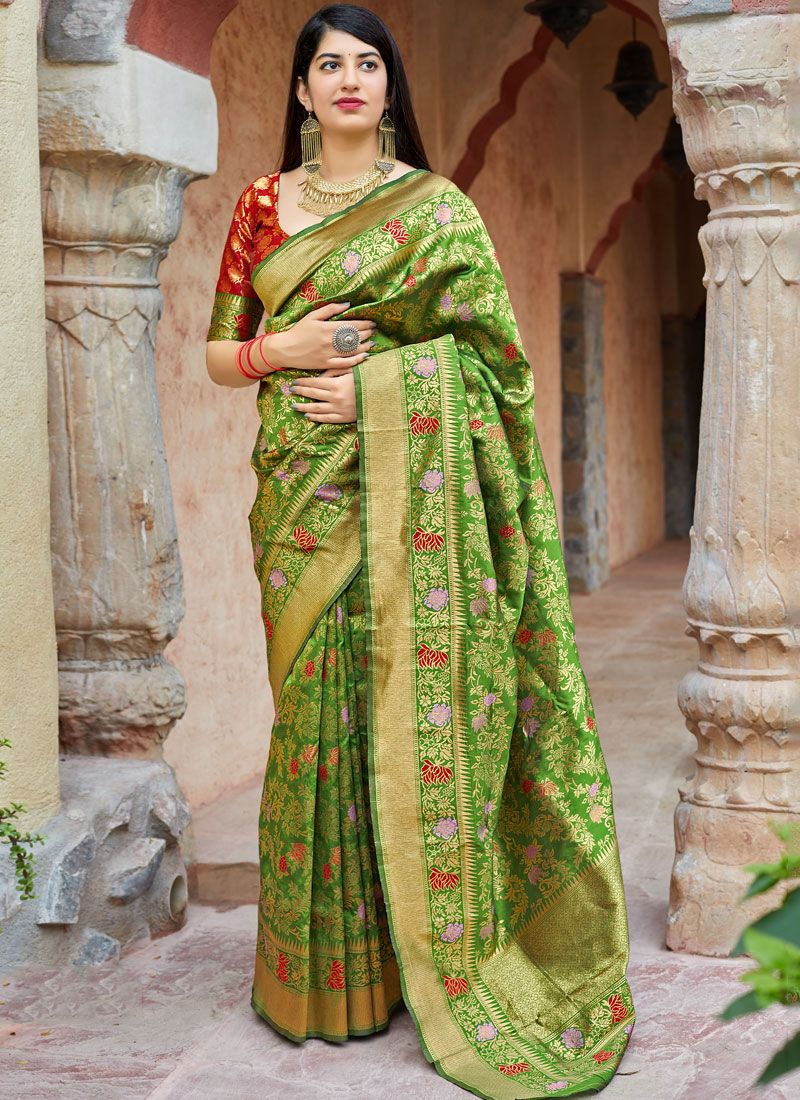 Machine Embroidery  Reception Designer Traditional Saree