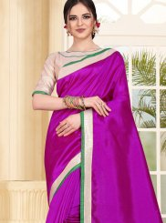Magenta Art Silk Festival Traditional Saree
