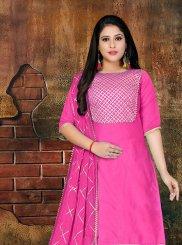 Magenta Casual Designer Salwar Kameez