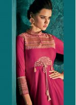 Magenta Color Anarkali Salwar Suit