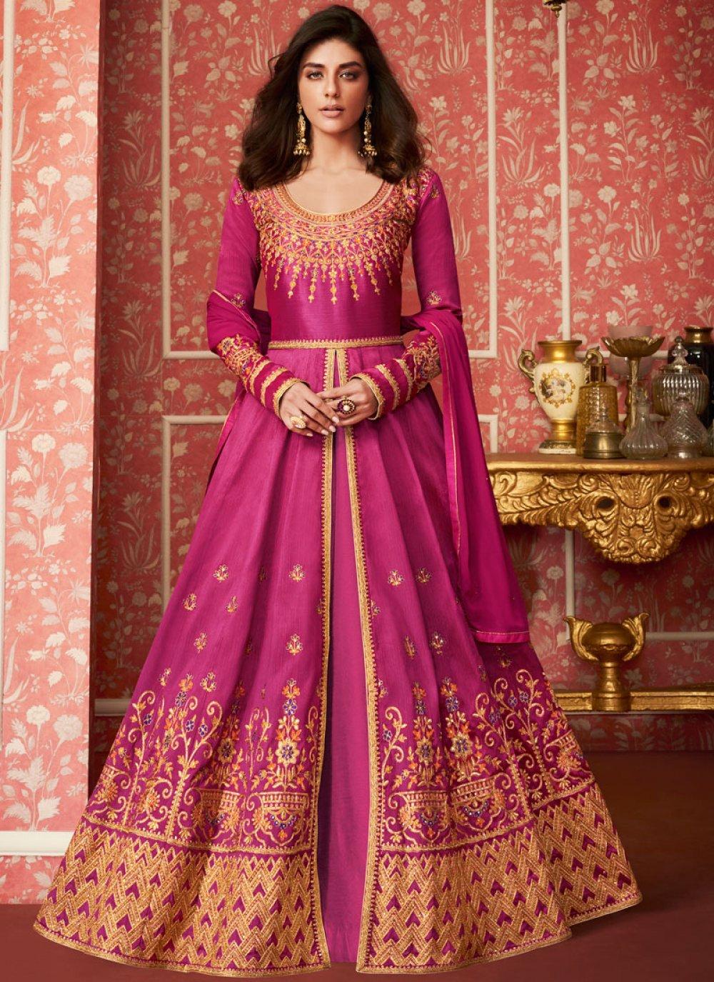 Magenta Color Desinger Anarkali Salwar Suit