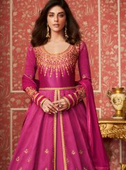 Magenta Color Desinger Anarkali Salwar Suit