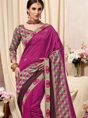 Magenta Fancy Fabric Printed Saree