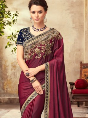 Magenta Party Traditional Designer Saree