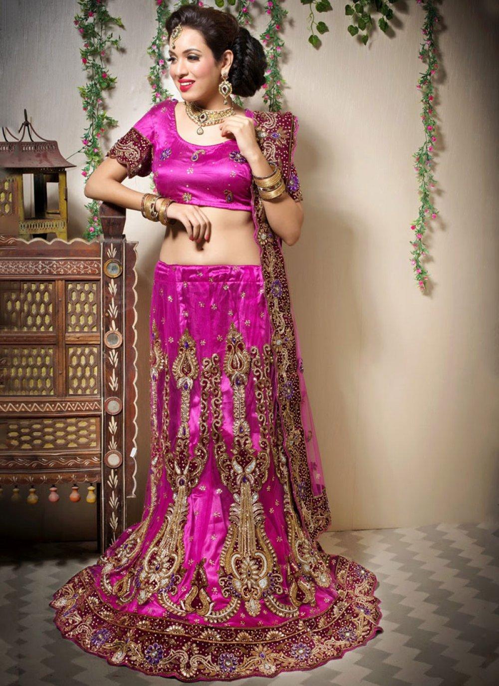 Magenta Patchwork Designer Lehenga Choli