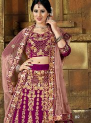 Magenta Wedding Lehenga Choli