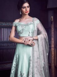 Malbari Silk  Embroidered Sea Green Designer Lehenga Choli