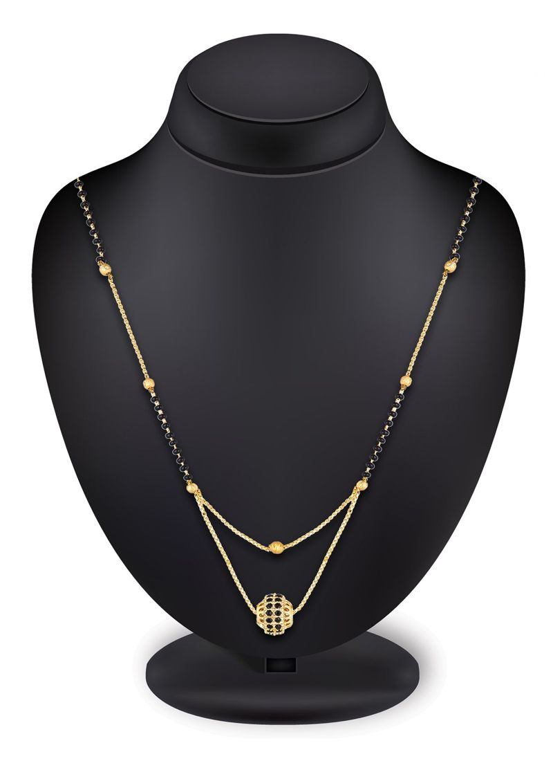 Mangalsutra Stone Work in Black and Gold