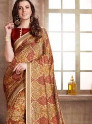 Manipuri Silk Abstract Print Printed Saree