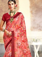 Maroon Art Silk Festival Traditional Saree