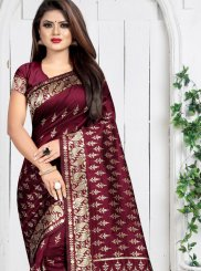Maroon Art Silk Silk Saree