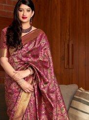 Maroon Banarasi Silk Classic Saree
