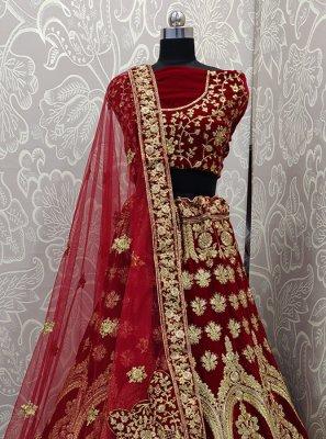 Maroon Ceremonial Designer Lehenga Choli