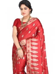 Maroon Ceremonial Designer Traditional Saree