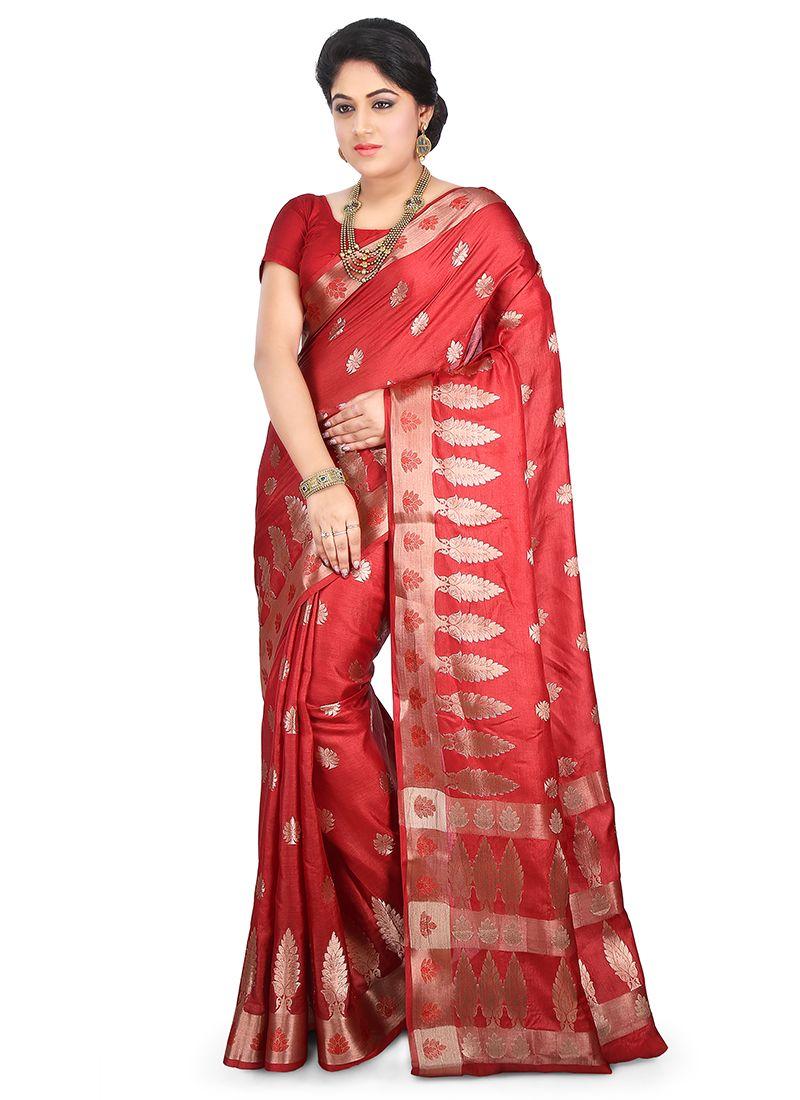 Maroon Ceremonial Designer Traditional Saree